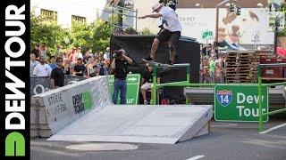 Ryan Sheckler Skateboard Streetstyle Winning Run - 2014 Dew Tour Portland