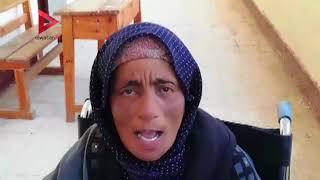 مسنة علي كرسي متحرك في كفر الشيخ: