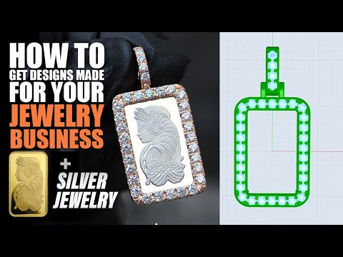 How To Get Jewelry Designs Made For Your Jewelry Business (Pamp Suisse Gold Bars, Silver, Rhino 3D)