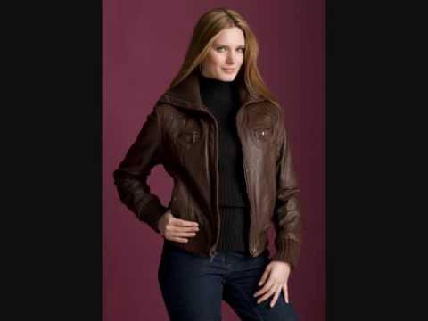 Veste de cuir pour femme