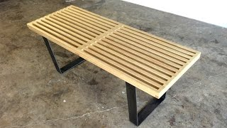 DIY  Modern Slatted Bench | Modern Builds | EP. 39
