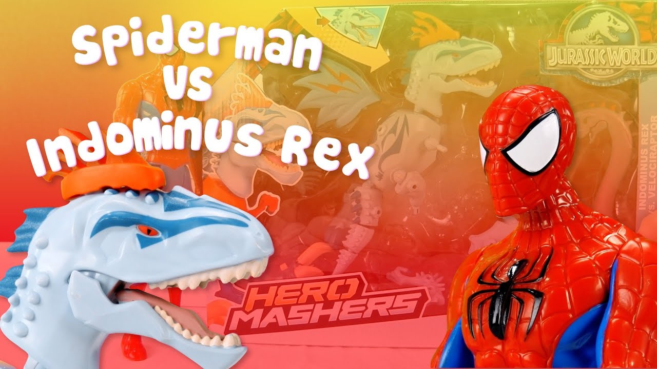 Spiderman VS Indominus Rex | Spiderman visita Jurassic World