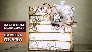 DIY - Caixa com falso ripado (Camila Claro)