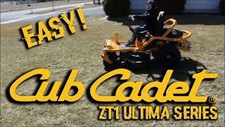 Cub Cadet ZT1 Ultima Series Zero Turn First Run! EASY!