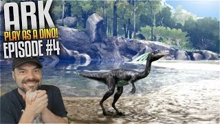 Ark Play As Dino Mod - Compy Ep 4 - DINO MEAT CONNOISSEUR!