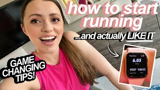 10 TIPS: HOW TO START RUNNING and *LIKE* it!  // Game-Changing Mindset