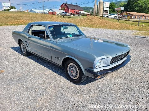 1966 Gray Ford Mustang For Sale Video