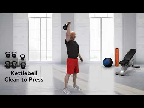 How To Do a Kettlebell Clean to Press - YouTube