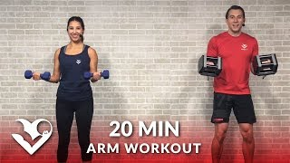 20 Minute Arms Workout at Home with Dumbbells - Biceps and Triceps Arm Workout for Women & Men by HASfit