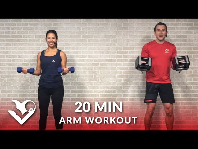 20 Minute Arms Workout at Home with Dumbbells – Biceps and Triceps Arm Workout for Women & Men