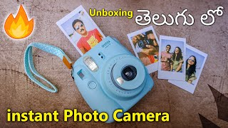 Instant Photo Camera Unboxing & Review In Telugu... 🔥