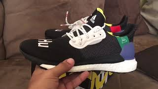 81064fdcc Pharrell Williams X Adidas Solar Hu Glide St Shoes Unboxing   Up Close Look