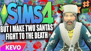 Sims 4 but I make two Santas fight to the death