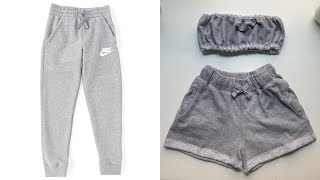Transforming Joggers Into Two Piece Lounge Set | Beginner Friendly Diy Transformation