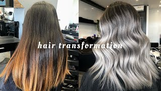 HAIR TRANSFORMATION: SILVER/ASH BLONDE IN ONE SESSION - PROCESS + AFTERCARE