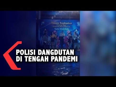 viral video polisi dangdutan di tengah pandemi covid-