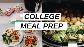Attempting Meal Prep In My DORM | Healthy Air Fryer Meal