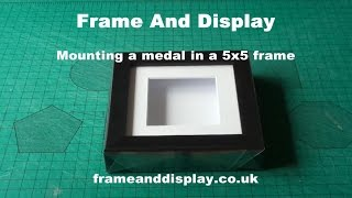 Mounting A Medal In A Five Inch Box Frame