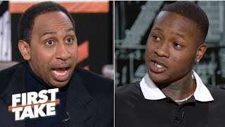 Stephen A. and Terry Rozier debate if Giannis or Kawhi is more important to his team | First Take