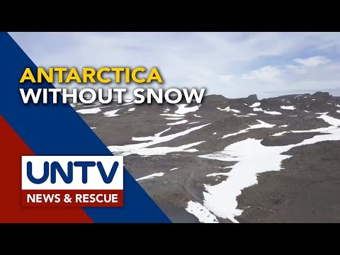[UNTV]  This is what Antarctica looks like without snow