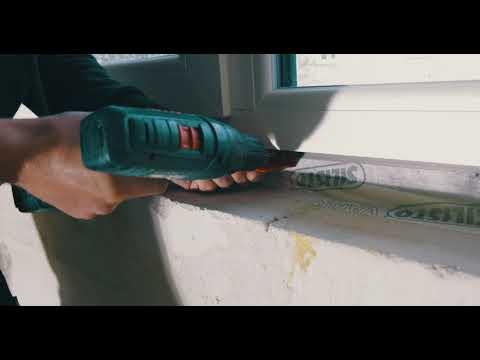 Montage einer Fensterbank aus Naturstein mit dem FeBaFix-System