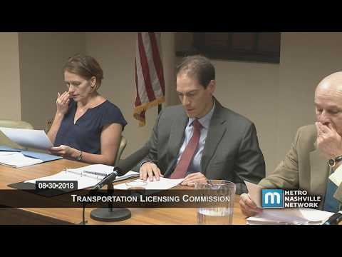 08/30/18 Transportation Licensing Commission Meeting