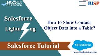 Showing Contact Object Data | Salesforce Lighting | Lightning Components | Salesforce BISP