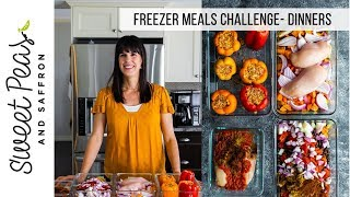 STOCK UP THE FREEZER CHALLENGE | Week 1- dinners
