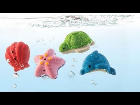 Vorschau: Meerestiere Badewannenspielzeug Holz