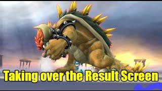 Giga Bowser Takes Over the Result Screen with a Transform Glitch (Super Smash Bros Wii U)