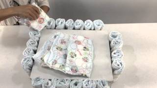 How To Make A Bassinet Diaper Cake