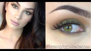 Arbonne Makeup | Smokey Shadow For Green & Hazel Eyes + Big Loose Curls