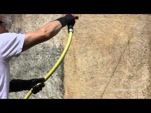 nettoyer un mur extérieur