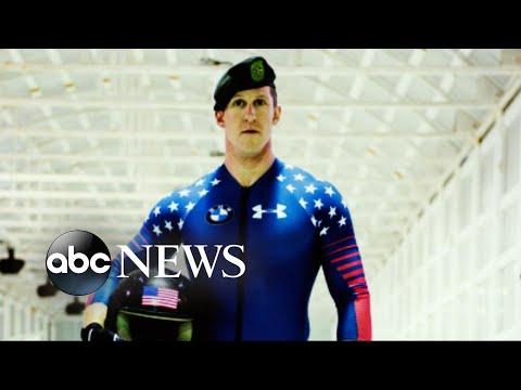 American men's bobsledding team in their final race of the season