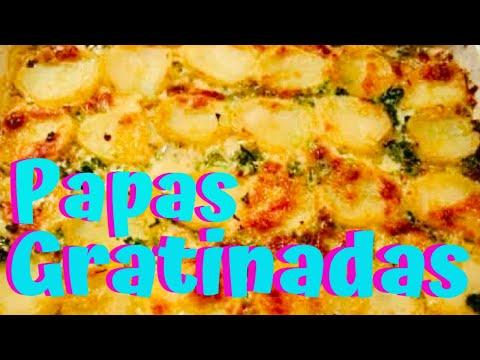 papas - papas al horno - papas con queso - papas gratinadas -  scalloped potatoes - elmundodelynda