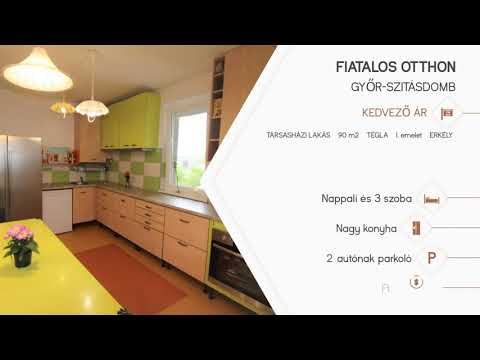 Győri napfényes otthon - eladó társasházi lakás