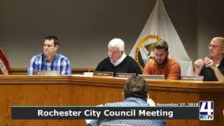 Rochester City Council 11-27-18
