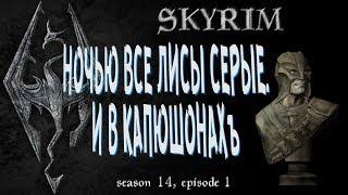 👍⚛ Ночью все Лисы серые. И в капюшонахъ. [Skyrim, season 14, episode 1]