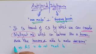 Artificial Intelligence | Introduction | Lec-1| Bhanu Priya