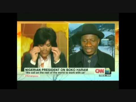 PRESIDENT GOODLUCK'S INTERVIEW ON CNN WITH AMANPOUR