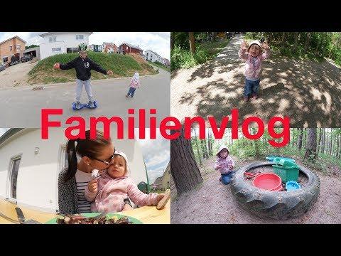 Familienvlog   spontanes Grillen   Besuch im Wald   Megawheels Hoverboard