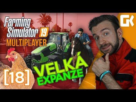 KONĚ, SLEPICE A NOVÝ TRAKTOR ANEB VELKÁ EXPANZE! | Farming Simulator 19 Multiplayer #18