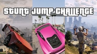 GTA Online Stunt Jump Challenge! Grand Theft Sporto Episode 1