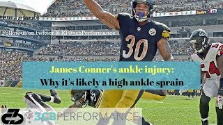 Steelers' James Conner ankle injury: Why it's a high ankle sprain