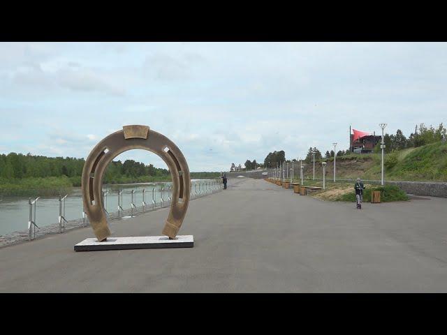 Набережную Ангарска украсил новый арт-объект