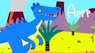 Детские песни - ДИНОЗАВР - развивающие мультики для детей / теремок песенки