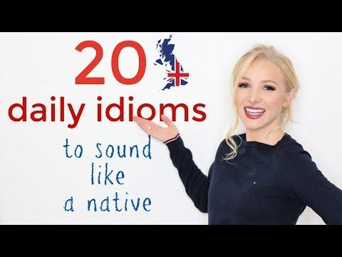 20 idiomů, díky kterým budete znít jako rodilí mluvčí - Lekce angličtiny