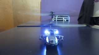 Apache AH-64 Syma S109G Indoor RC Helicopter Test Flight