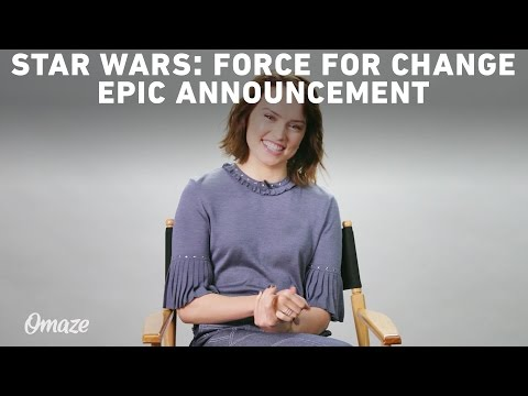 Mark Hamill & Daisy Ridley's Epic Star Wars: Force For Change Announcement