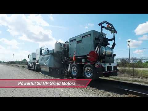 Loram's Quick Deploy Truckable Rail Grinder